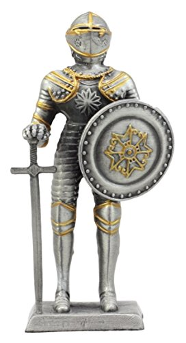 Ebros Gift Pewter French Knight Figurine 4