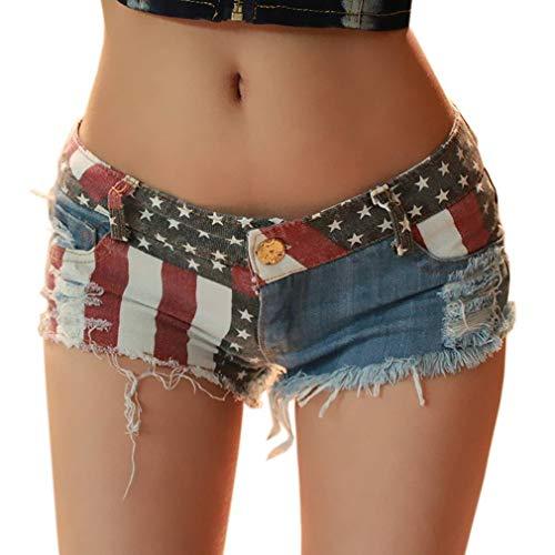 Nuit t Jean Femme de Bo Court Denim COMVIP Mini en Multicolore Hot Short Ultra Pants te q4CB6wEnO