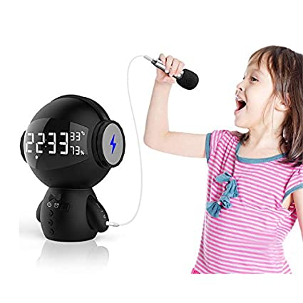Amazon com: Z&cl Clock Bluetooth Speaker Robot Second
