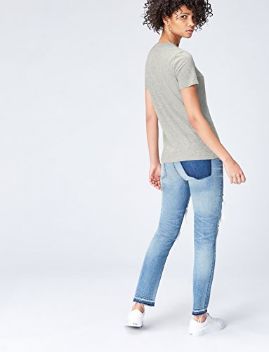 Gris Col T Femme Cou Grey Shirt Ras FIND du ZqOFCxw