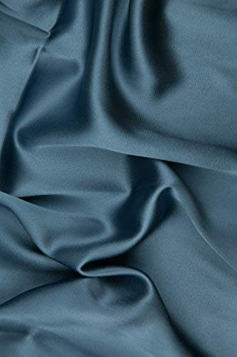 Skyway Blue Silk Crepe Back Satin Fabric