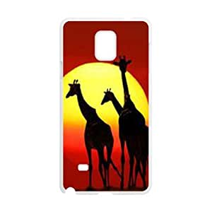 Giraffa camelopardalis Discount Personalized Cell Phone Case for Samsung Galaxy Note 4, Giraffa camelopardalis Galaxy Note 4 Cover