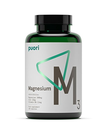 Puori -  M3 - High Quality Magnesium 300mg, Zinc 15mg, and Vitamin B6...