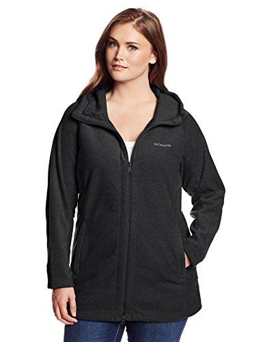 Columbia Women's Plus-Size Benton Springs II Long Hoodie Plus, Charcoal Heather, 2X (Long Hooded Hoodie compare prices)