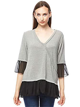 Wal G Jumper Top for Women - Grey