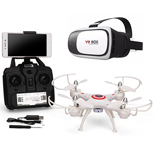 Dwi Dowellin RC Drone with HD Camera collocation of 3D Virtual Reality Glasses VR WIFI helicopter D4W1-MV100