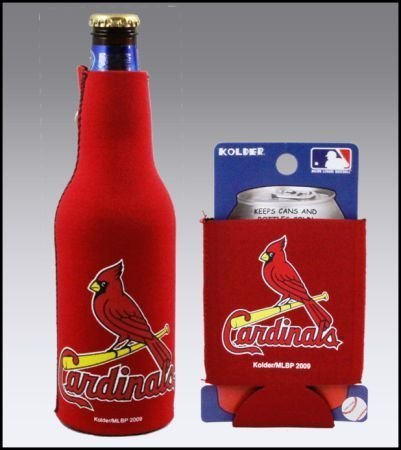 SET OF 2 ST LOUIS CARDINALS CAN & BOTTLE KOOZIE COOLER