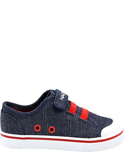 Nautica Kids Calloway Sneakers Velcro Bungee Straps Casual Shoes-Denim-9