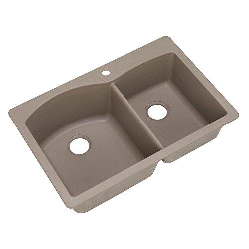 1.75 Medium Double Bowl - Blanco 441283 Diamond 1-3/4 Bowl Silgranit II Sink, Truffle