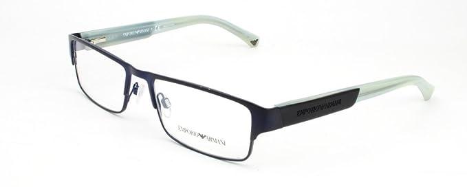 750aef066e3c Image Unavailable. Image not available for. Colour  Emporio Armani Men s  1005 Matte Blue   Opal White Frame Metal Eyeglasses ...