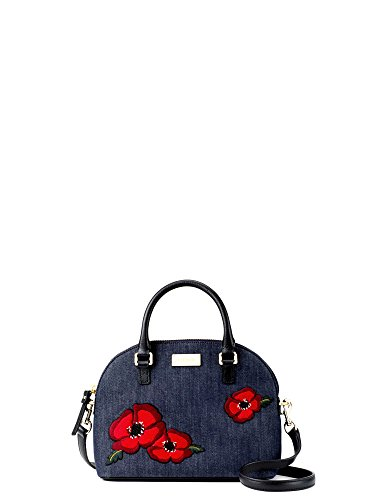 Kate Spade Mini Carli Grove Street poppy Denim Shoulder Women