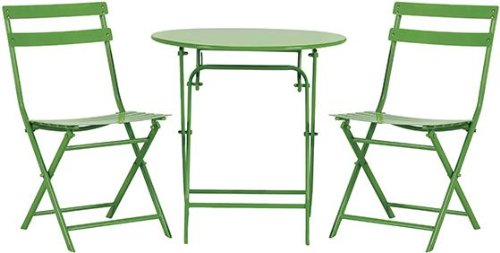 Follie Outdoor 3 piece Bistro Set, 3-PIECE SET, GREEN