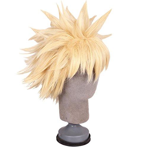FantaLook Short Blonde Anime Cosplay Wig for Men ()
