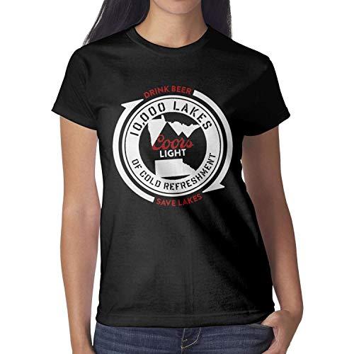 Short-Sleeve Cotton Art-Logo-coors-Light- T-Shirt for Women