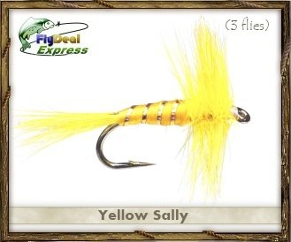 Fly Fishing Flies - YELLOW SALLY - Dry Fly (3-pack)