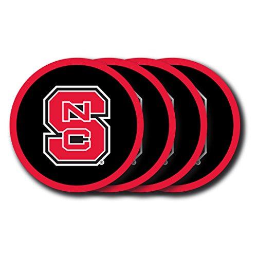 (NCAA North Carolina State Wolfpack Vinyl Coaster Set (Pack of 4))