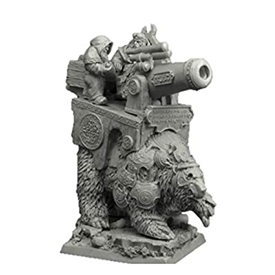 Scibor 28mm/30mm Dwarven Cannon on War Bear: Toys & Games