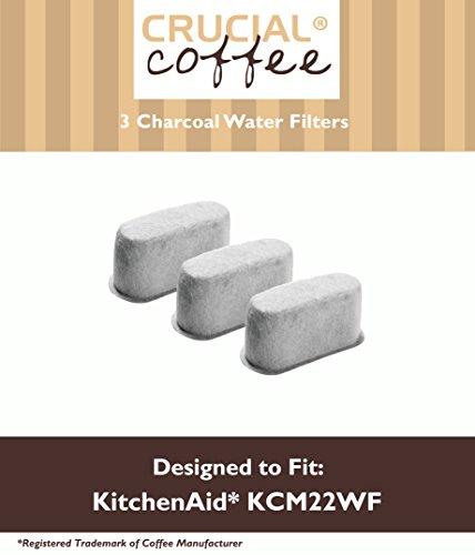 3 Premium Kitchenaid Charcoal Coffee Filters Fit Kcm222