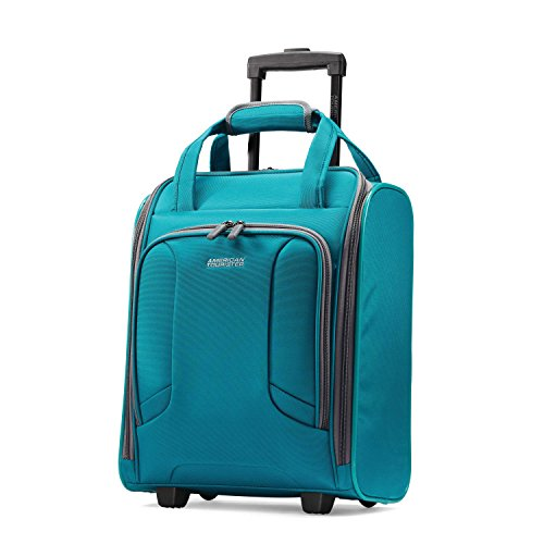 American Tourister Rolling Tote Travel, Teal, One Size