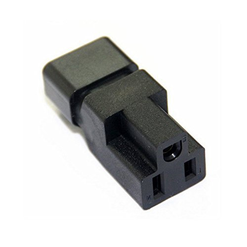 Toptekits Adapter Nema 5-15r To C14 , IEC C14 Male to NEMA 5-15R Power Converter adaptor