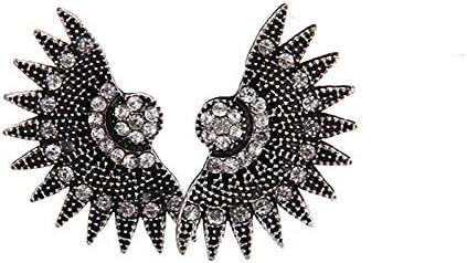 QYMX Pendiente Mujer, Bohemia Joyería étnica Pendientes de Abanico Vintage para Mujer Tribal Pendientes de Cristal Antiguo Joyas