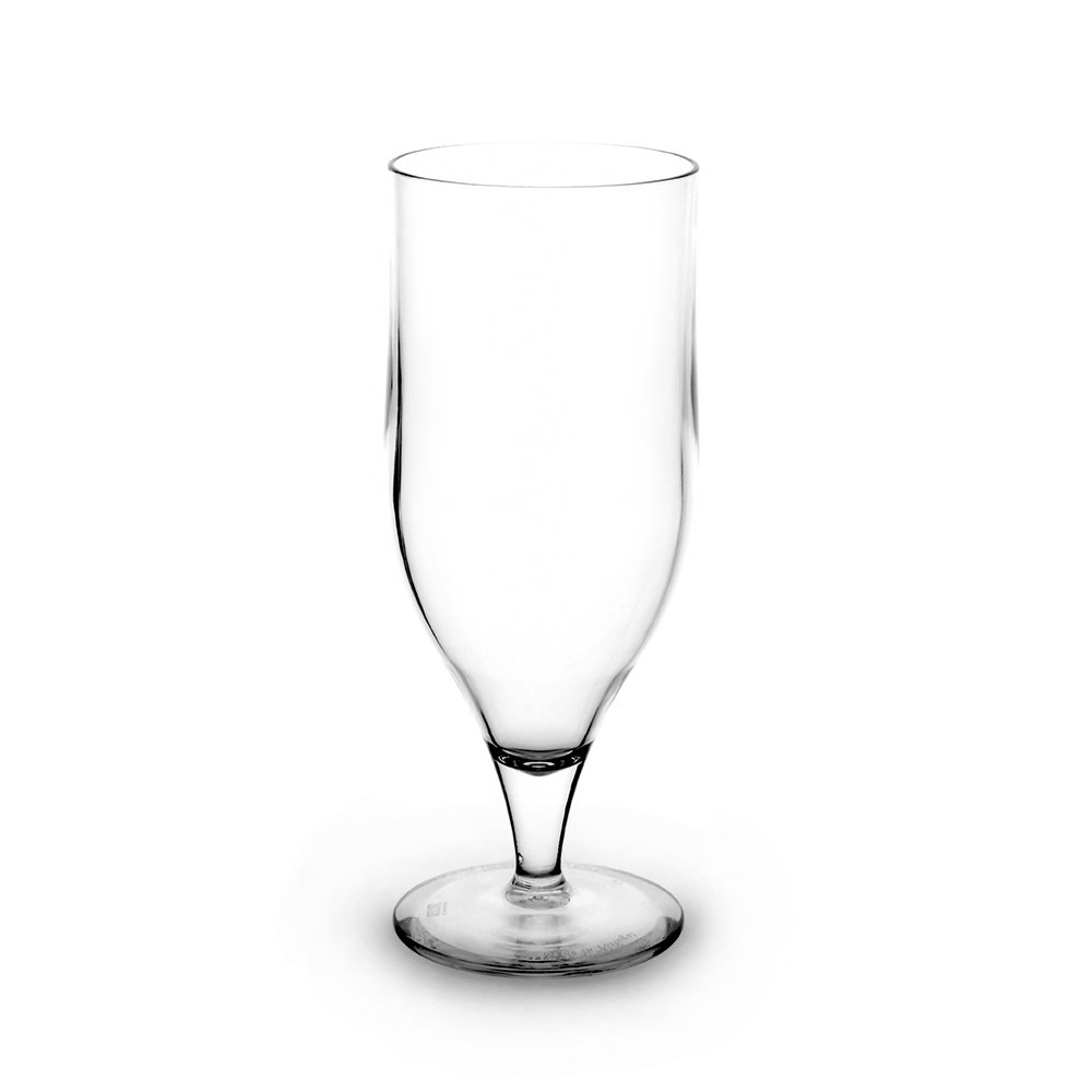 RB Unbreakable Goblet Beer Glasses Nucleated Premium Plastic 12oz, Set of 6 RBDRINKS
