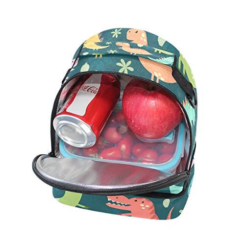 almuerzo diseño la pincnic ajustable de con correa de de para escuela para hombro el Alinlo dinosaurio con Bolsa aislante qZEwIUxS