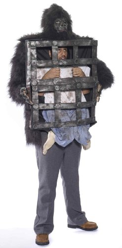 Gorilla Costumes Cage (Forum Novelties Men's Gorilla with Cage, Multi, One Size)