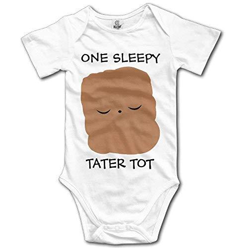 Wishesport FUNINDIY Newborn Infant Sleepy Tater TOT Funny Baby Onesie Bodysuits -