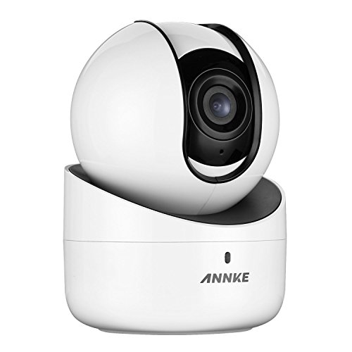 ANNKE 720p Wireless Wi-Fi IP Camera Home Security Camera PT Baby Monitor with 2-Way Audio and Remote Pan/Tilt (White)