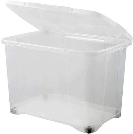 Eda Plastique Boite De Rangement Clip Box 60 L Avec Roulette Naturel Couvercle Avec Charniere 60 X 40 X 40 7 Cm Amazon Fr Cuisine Maison