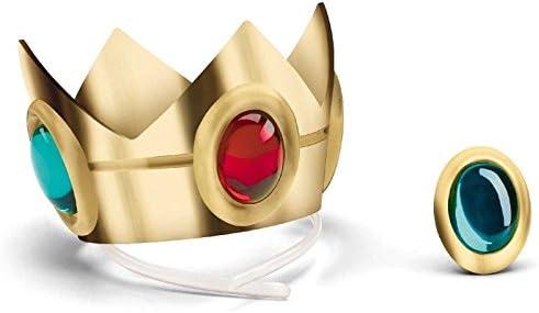 スーパーマリオブラザーズ ピーチ姫 コスプレ グッズ 王冠とアミュレットのセット [並行輸入品]