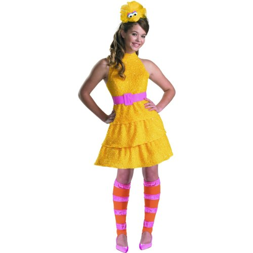 Street Girl Costume (Disguise Sesame Street Big Bird Teen Girls Costume, Large/10-12)