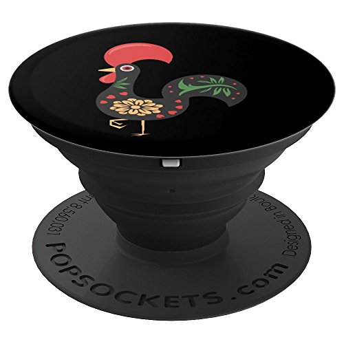 Portuguese Rooster Good Luck Roosters Barcelos Rooster - PopSockets Grip and Stand for Phones and ()