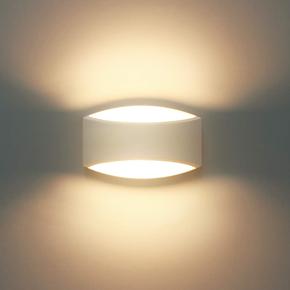 Wall lights indoor modern plaster led wall lamp 7w warm white led sconce up and down wall wash lights for living room bedroom hallway g9 led bulb