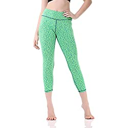 "Pau1Hami1ton GP-07 Women's Yoga Leggings 22""Capri High Waist Tummy Control Pants with Hidden Pocket(3,XL)"