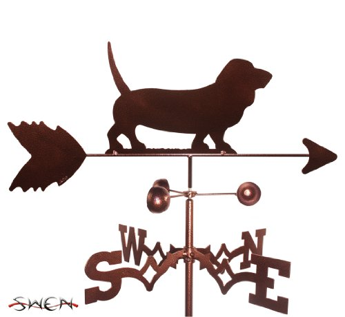SWEN Products Hand Made Basset Hound Dog Garden Stake Weathervane ~New~