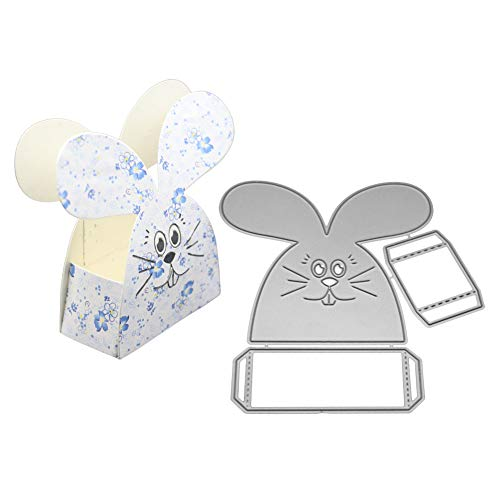 Gift Box Templates - AkoMatial Cutting Dies,Rabbit Gift Candy Box Design Embossing Cutting Dies Tool Stencil Template Mold Card Making Scrapbook Album Paper Card Craft,Metal