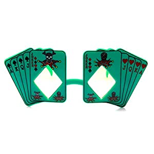 zeroUV - Poker Party Royal Flush Joker Diamond Vegas Casino Novelty Sunglasses