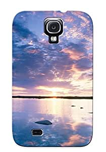 Tpu Yellowleaf Shockproof Scratcheproof Sky Nature Blue Clouds Sun Sunset Orange Sunrise Hard Case Cover For Galaxy S4 For Lovers