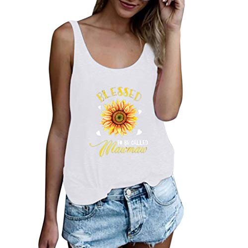 (Women's Casual Sleeveless Blouse Vest Loose Crop Tops Tank)