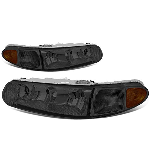 For Buick Century Regal Pair of Headlight Lamp (Smoked Lens Amber Corner) 6th gen