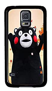 S5 Case, Galaxy S5 Case, Samsung Galaxy S5 Case - Hard PC Protective Happy Bear Lovely Case Black Cover Heavy Duty Protection Shock-Absorption / Impact Resistant Slim Case for Galaxy S5 / Galaxy SV / Galaxy S V / Galaxy i9600