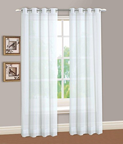 Lorraine Home Fashions Reverie Window Curtain Panel, 60 x 95, White