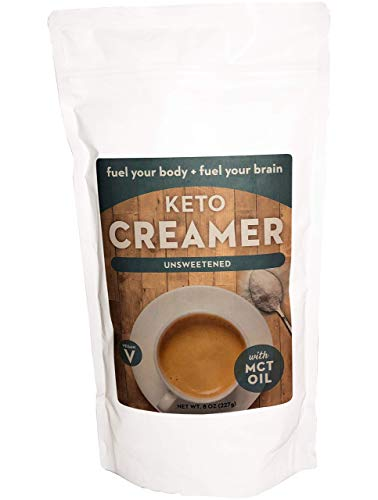 Keto Creamer with MCT Oil, Dairy Free Super Creamer (Unsweetened, 8 OZ)