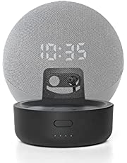 Base de bateria para Alexa Echo Dot 4ª geração, carregador de bateria portátil GGMM D4 para Echo Dot, acessórios para alto-falante inteligente, preto (Não inclui Alexa Echo Dot 4)