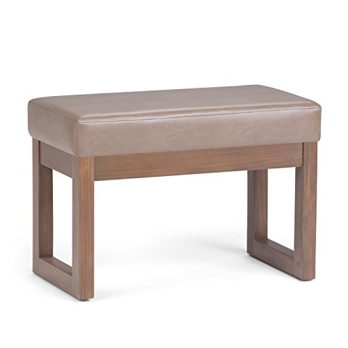 Simpli Home Milltown Ottoman Bench, Small, Ash Blonde