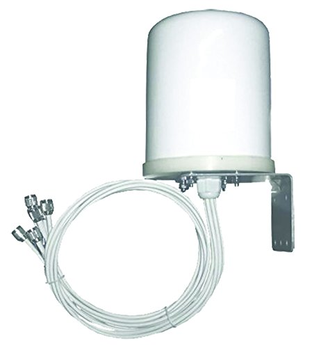 TerraWave 6 dBi MIMO Outdoor Omnidirectional Antenna, RPTNC Plug Connectors, 6 Ports Dedicated (354980) by Ventev
