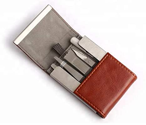 b0354d989337 5 Piece Manicure Pedicure Professional Set – Small Travel Manicure Set For  Men & Women – Leather Case – Stainless Steel Tools – Travel Gift - Nail ...