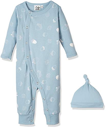Silly Apples Baby Boys or Girls Cotton Blend 2-Piece Long-Sleeve Jumpsuit Romper Onesies and Hat Outfit Set (NB) (Hat Set Romper)
